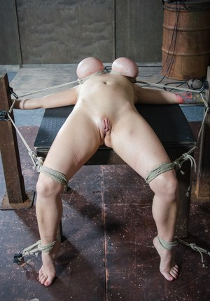 Huge breast bondage
