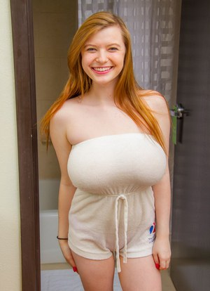 Teen with large boobs