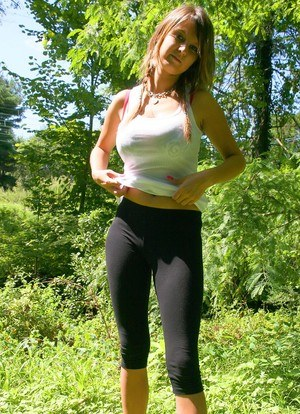 Big boobs yoga pants